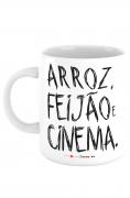 Caneca Arroz feijão e cinema