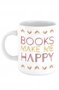 Caneca Books make me happy