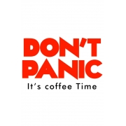 Caneca Don´t panic it´s coffe time