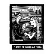 Caneca O Amor em Cordel: Chicó e Rosinha