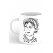 Caneca Rostos Letrados: Jane Austen