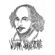 Caneca Rostos Letrados: William Shakespeare