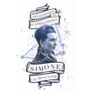 Caneca Simone de Beauvoir: A Tenacidade de Capricórnio