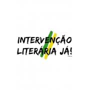 Quadro em MDF Intervenção Literária