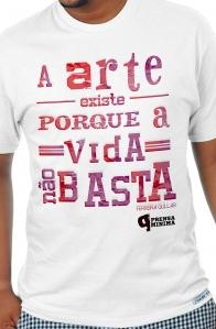 Camiseta Branca A arte existe