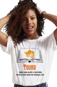 Camiseta Branca Taurinos leitores