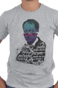 Camiseta Cinza Charles Baudelaire