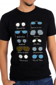 Camiseta Preta Óculos (Di)Versos