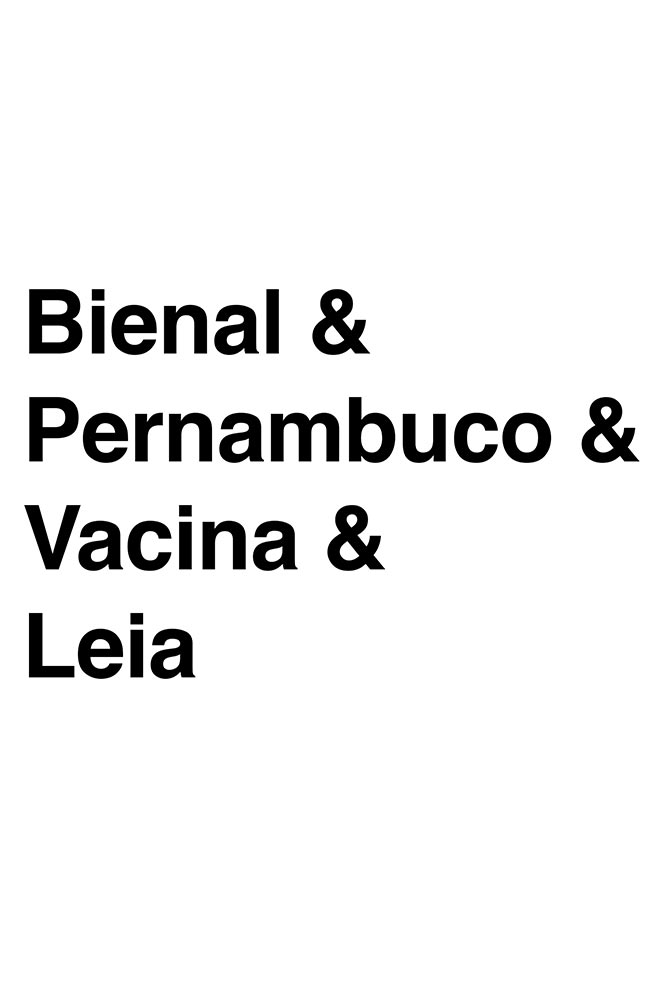 Almofadinha Helvética Bienal de Pernambuco