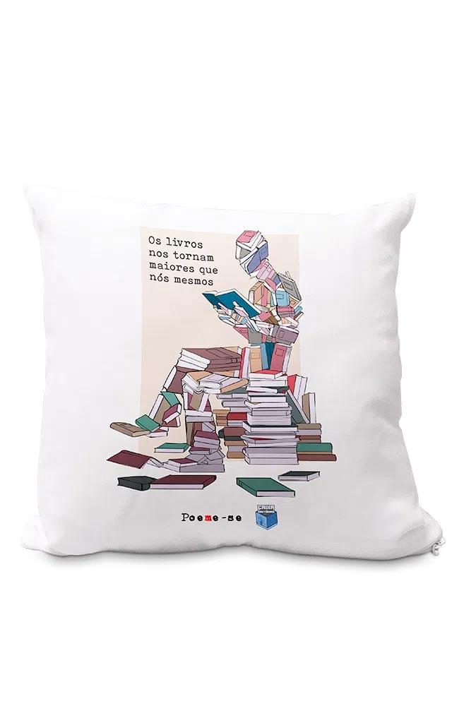 Almofadinha Livros nos tornam Maiores
