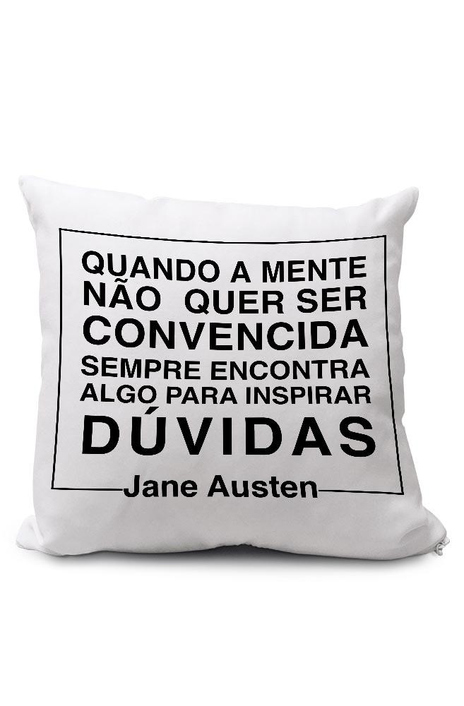 Almofadinha Negacionismo por Jane Austen