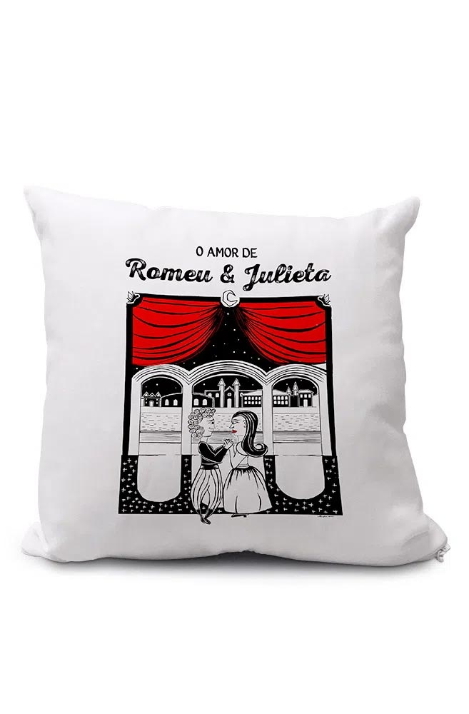 Almofadinha O Amor em Cordel: Romeu e Julieta