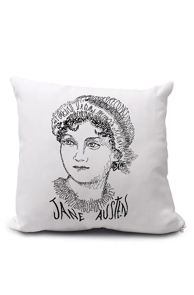 Almofadinha Rostos Letrados: Jane Austen