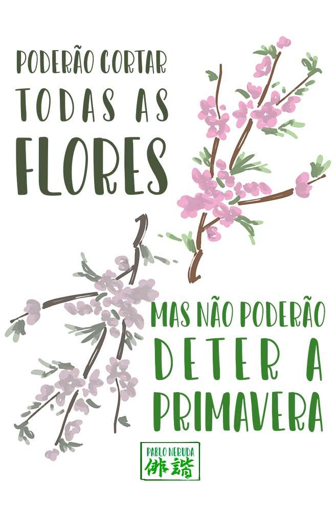 Almofadinha Sumi-ê: Pablo Neruda