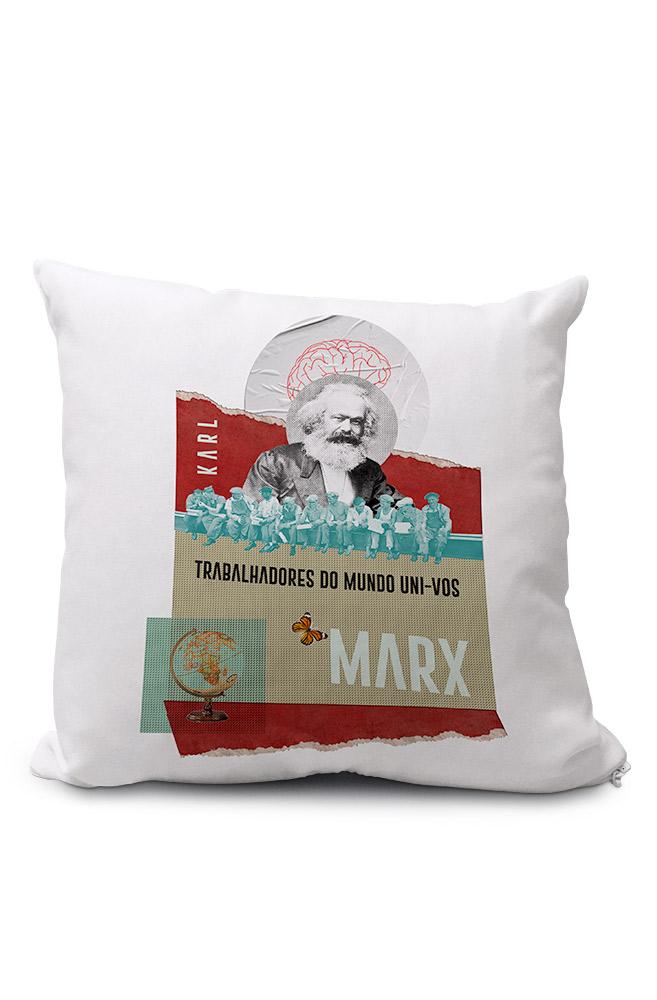 Almofadinha Trabalhadores do Mundo de Karl Marx