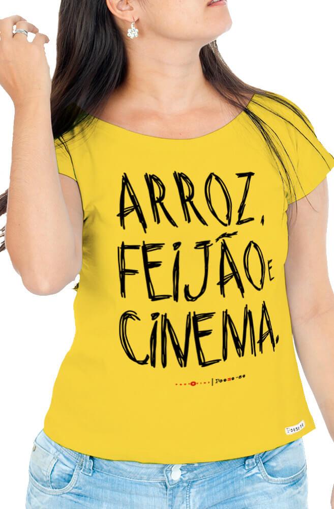 Camiseta Amarela Arroz, Feijão e Cinema