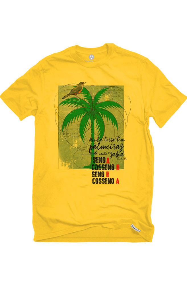Camiseta Amarela Canção do exílio matemático