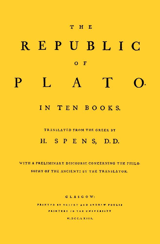 Camiseta Amarela Capa de Livro A República de Platão