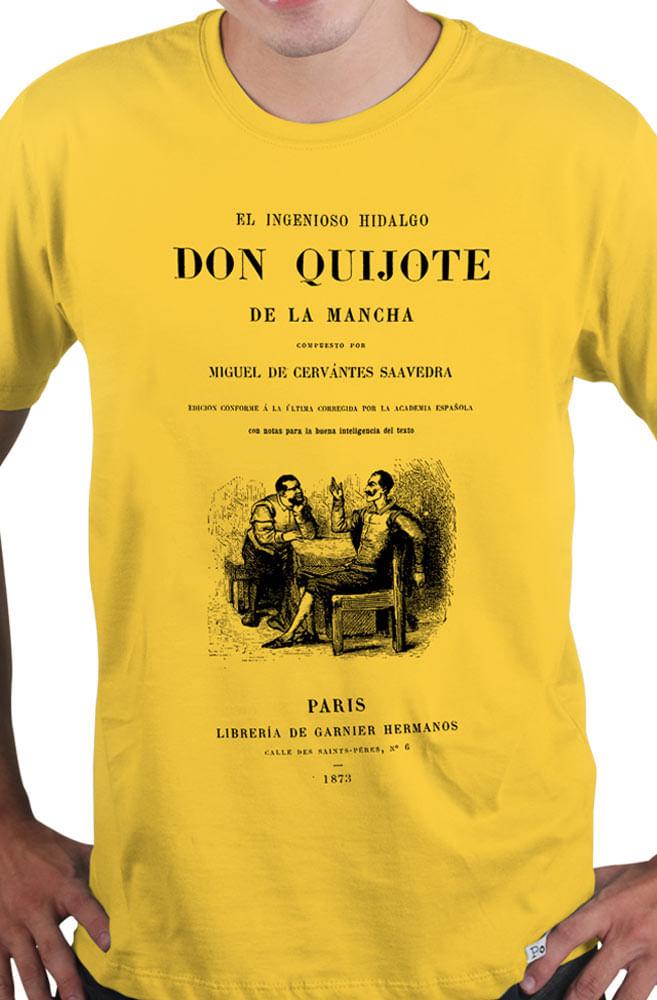 Camiseta Amarela Capa de Livro Don Quijote