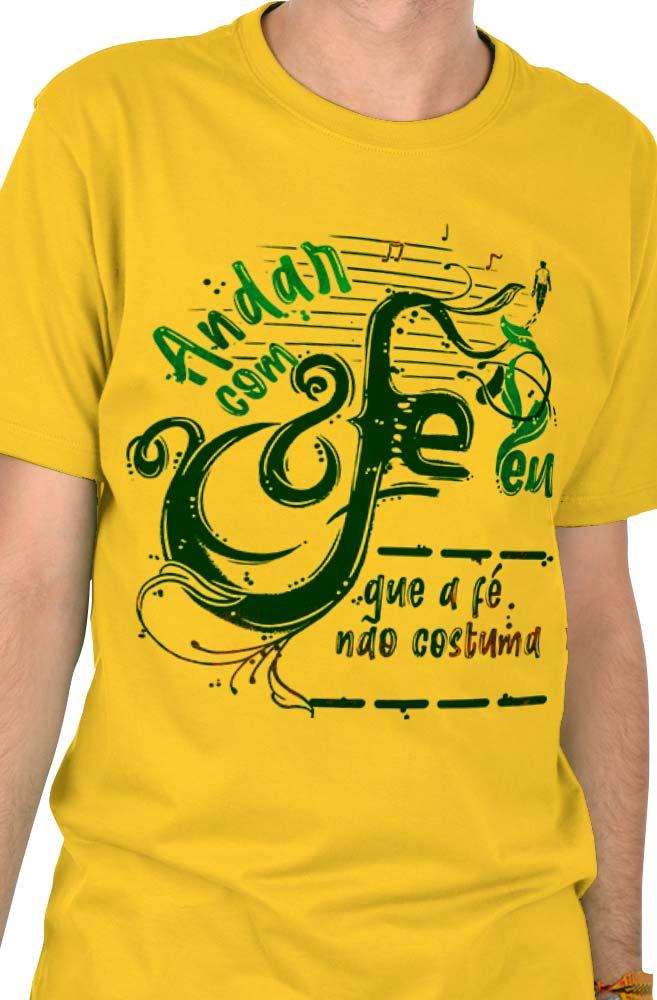 Camiseta Amarela Complete a fé