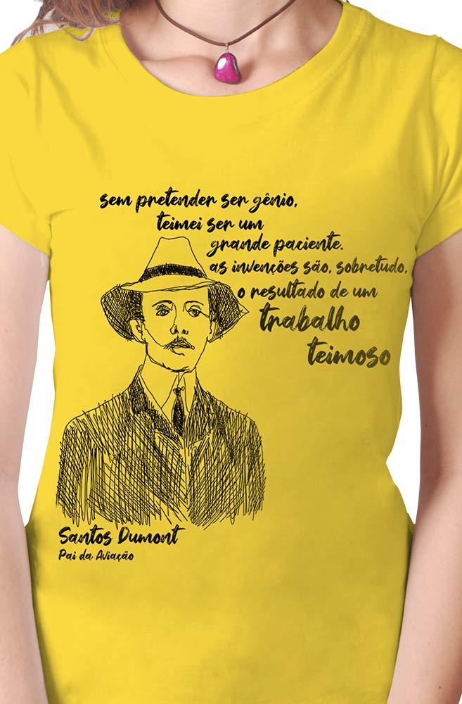 Camiseta Amarela Dumont, pai da aviação