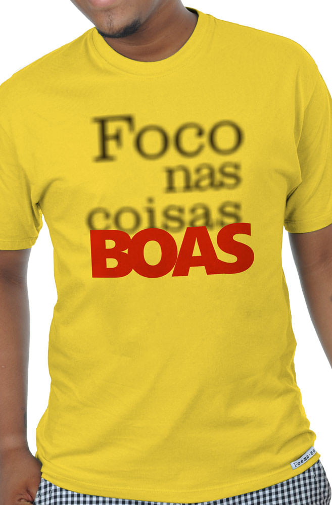 Camiseta Amarela Foco Nas Coisas Boas