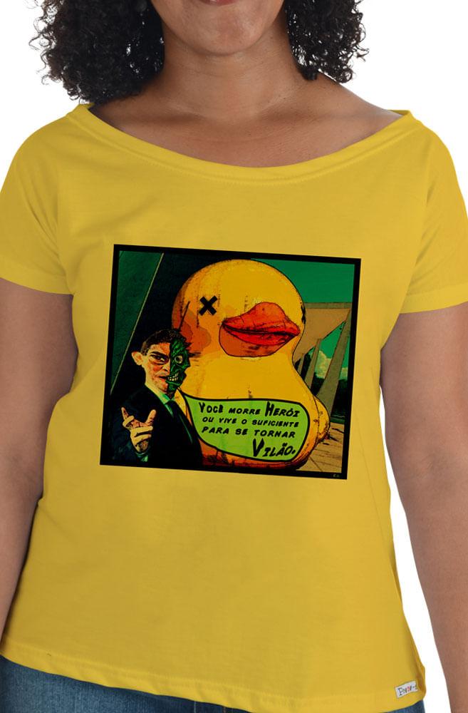 Camiseta Amarela Herói ou vilão
