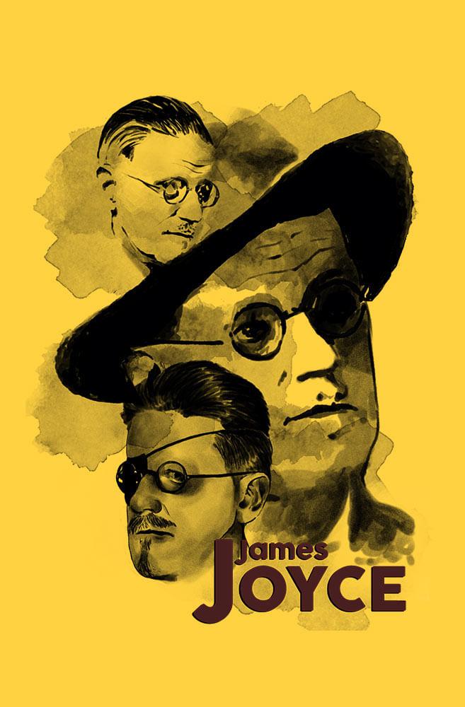 Camiseta Amarela James Joyce