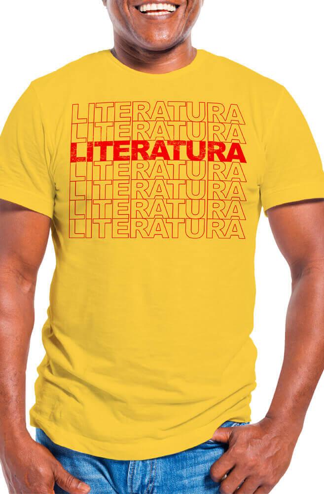 Camiseta Amarela Literatura e Mais Literatura