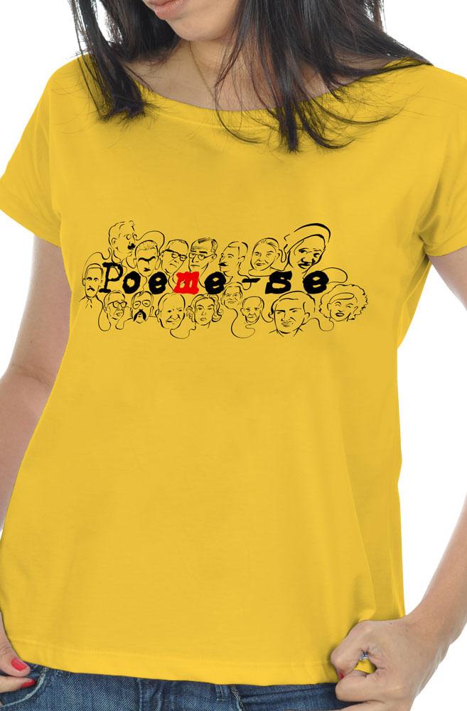 Camiseta Amarela Literatura Nacional
