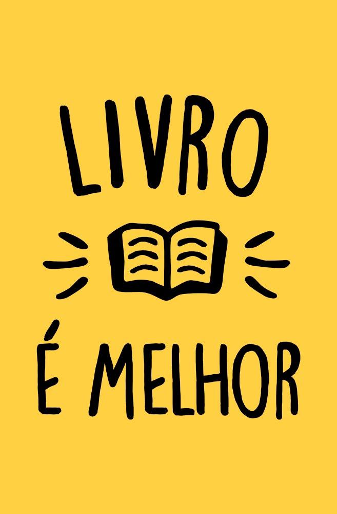 Camiseta Amarela Livro é melhor