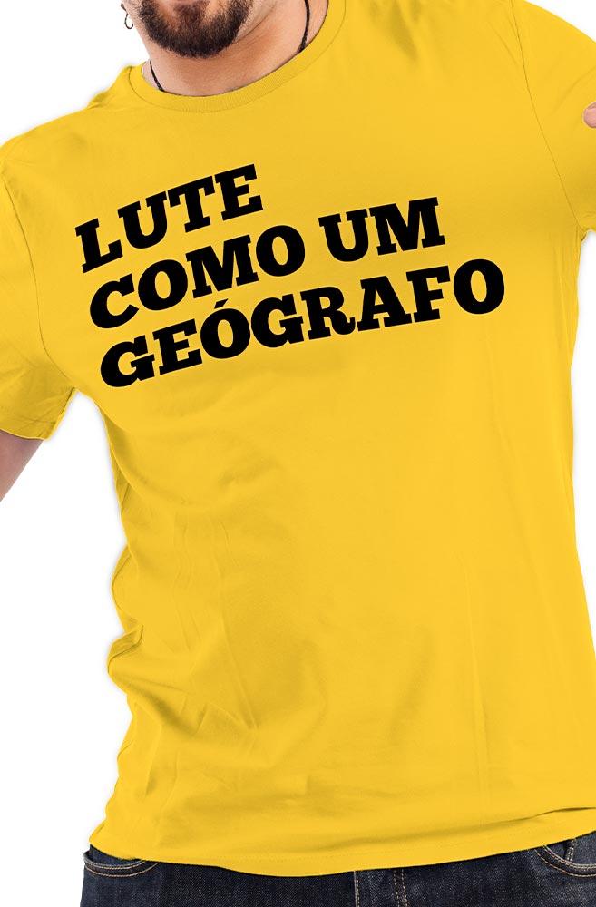 Camiseta Amarela Lute como um Geógrafo