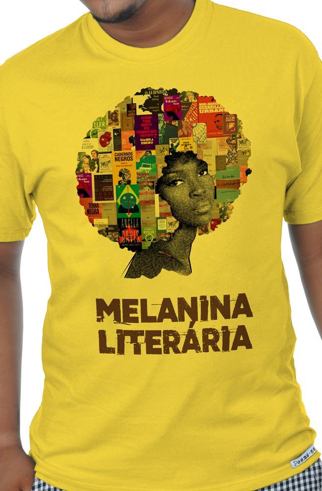 Camiseta Amarela Melanina Literária