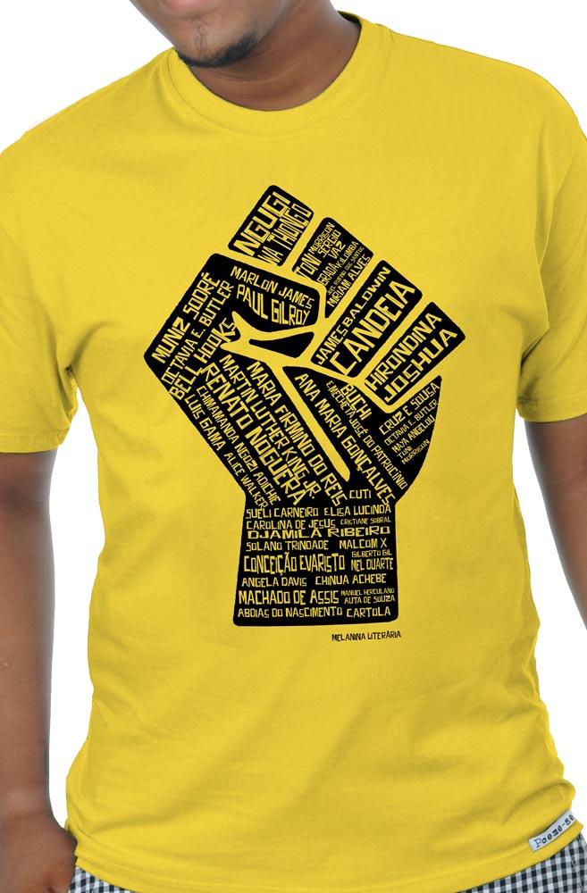 Camiseta Amarela Poder Negro
