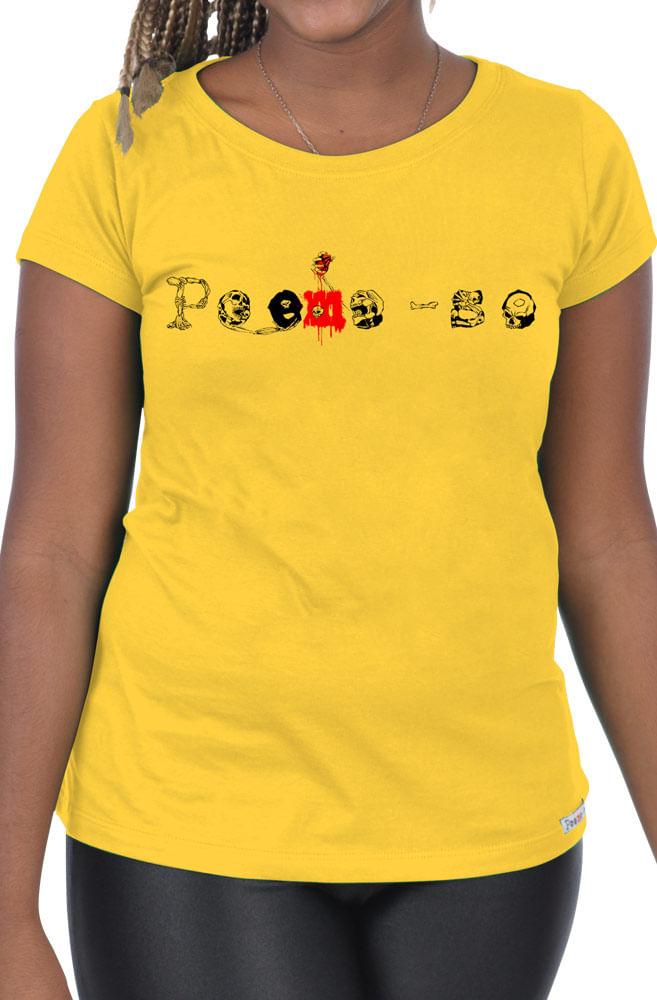 Camiseta Amarela  Poeme-se Halloween