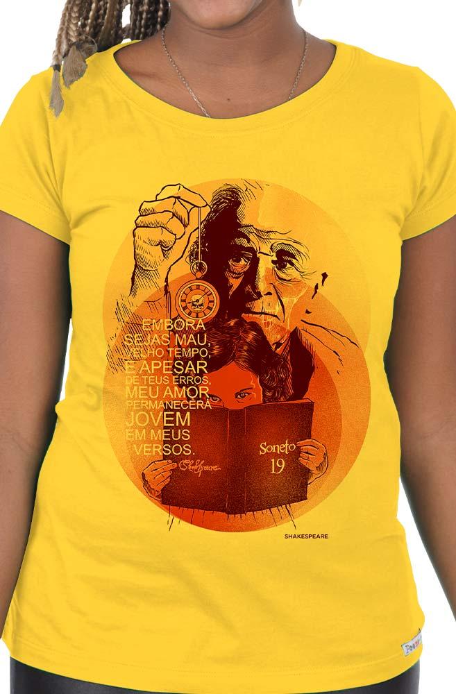 Camiseta Amarela Shakespeare