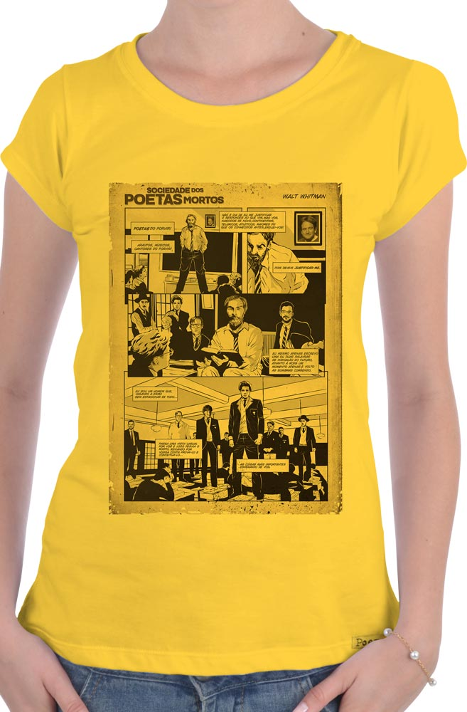Camiseta Amarela Sociedade dos Poetas Mortos