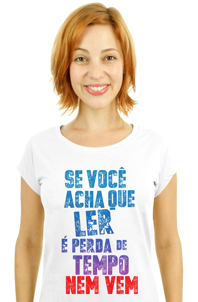 Camiseta Branca Acadêmicos do eu sou leitor