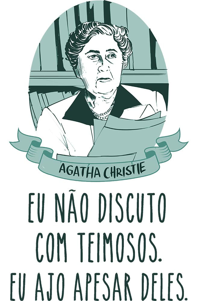 Camiseta Branca Agatha Christie