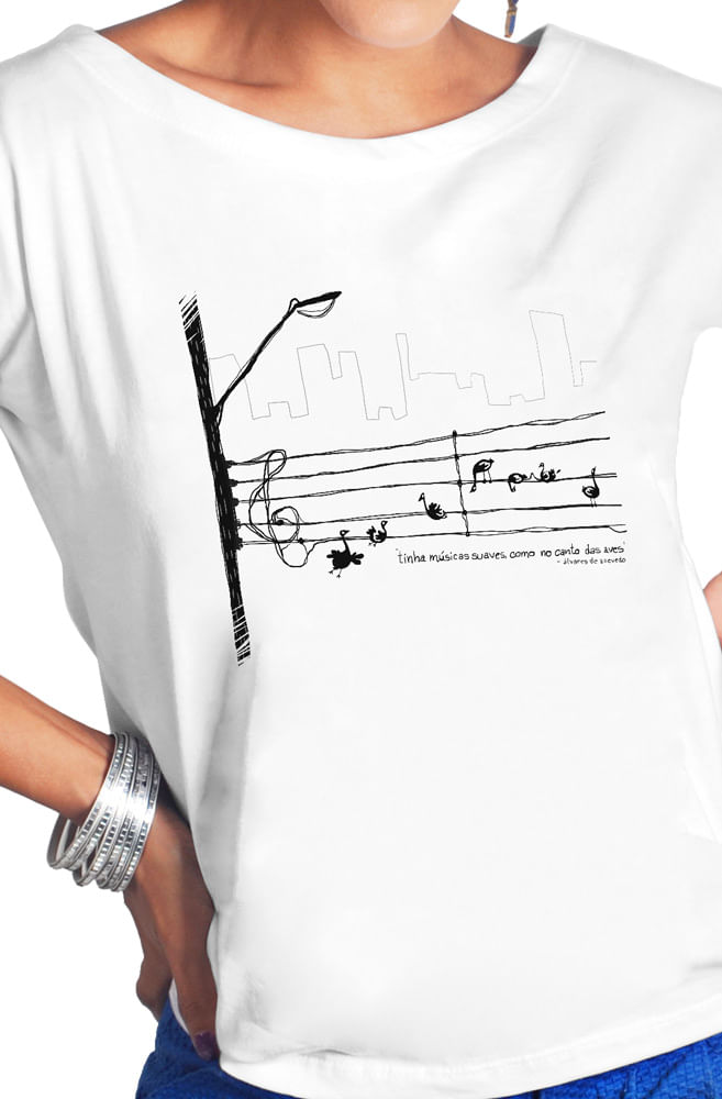 Camiseta Branca Álvares de Azevedo