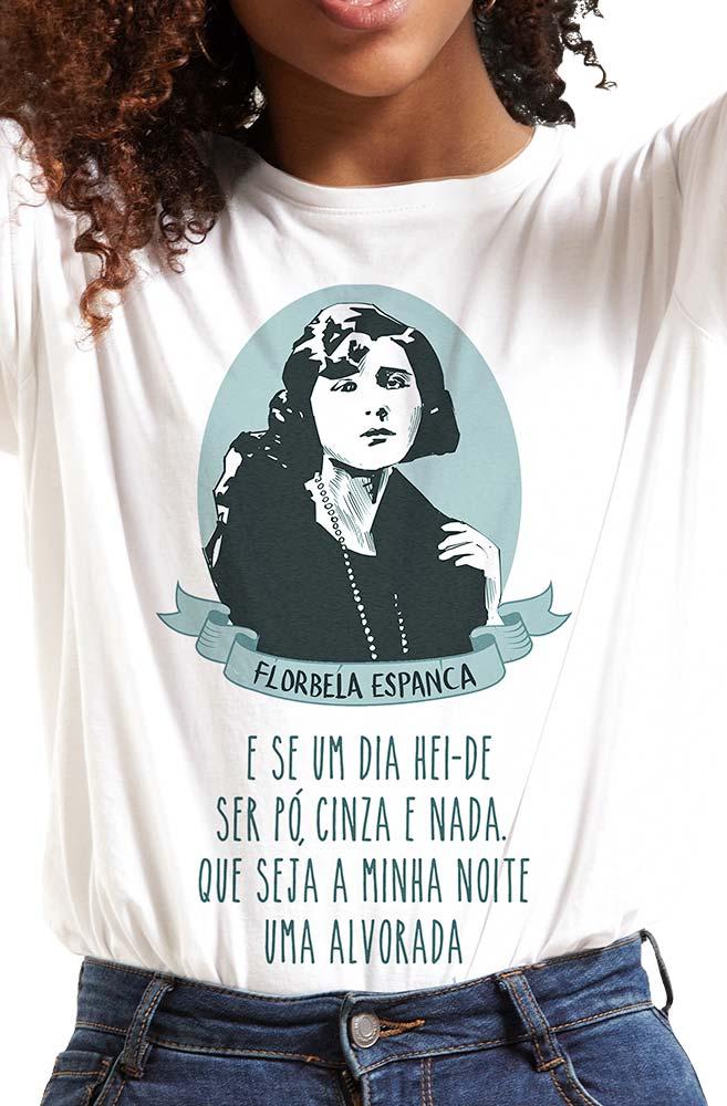 Camiseta Branca Alvorada de Florbela Espanca