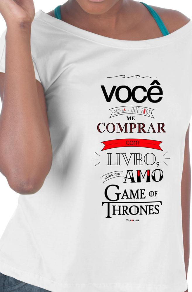 Camiseta Branca Amo Game of Thrones