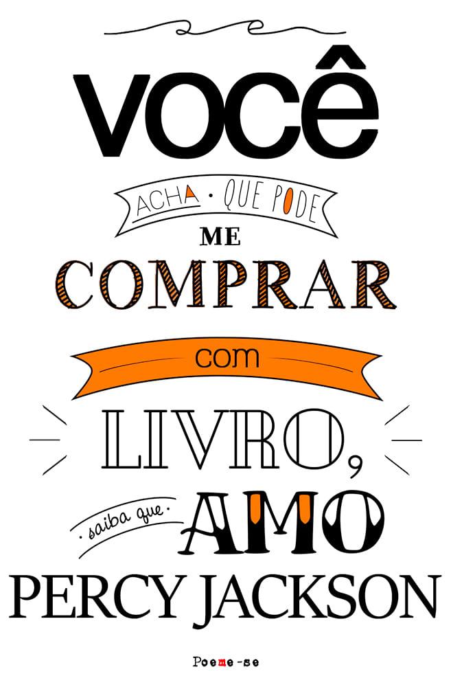 Camiseta Branca Amo Percy Jackson
