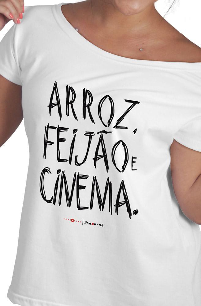 Camiseta Branca Arroz, Feijão e Cinema