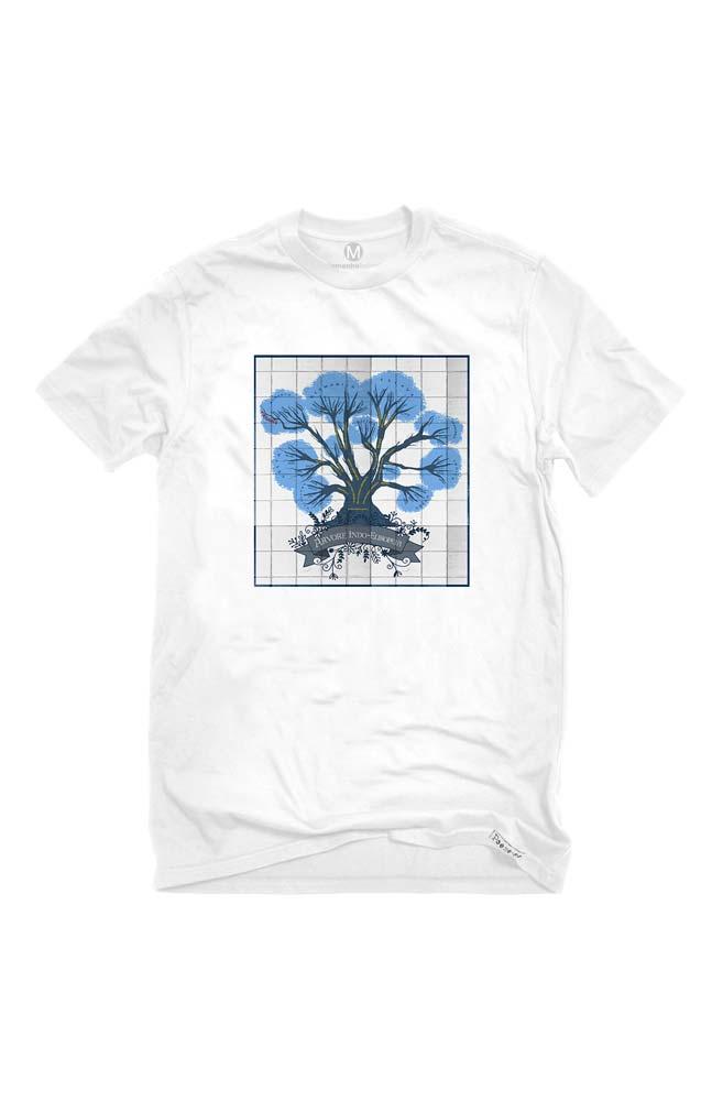 Camiseta Branca Árvore Linguística