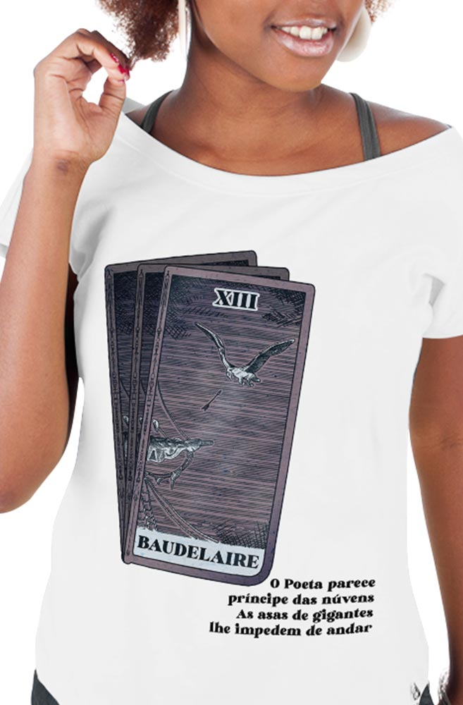 Camiseta Branca As asas de Baudelaire