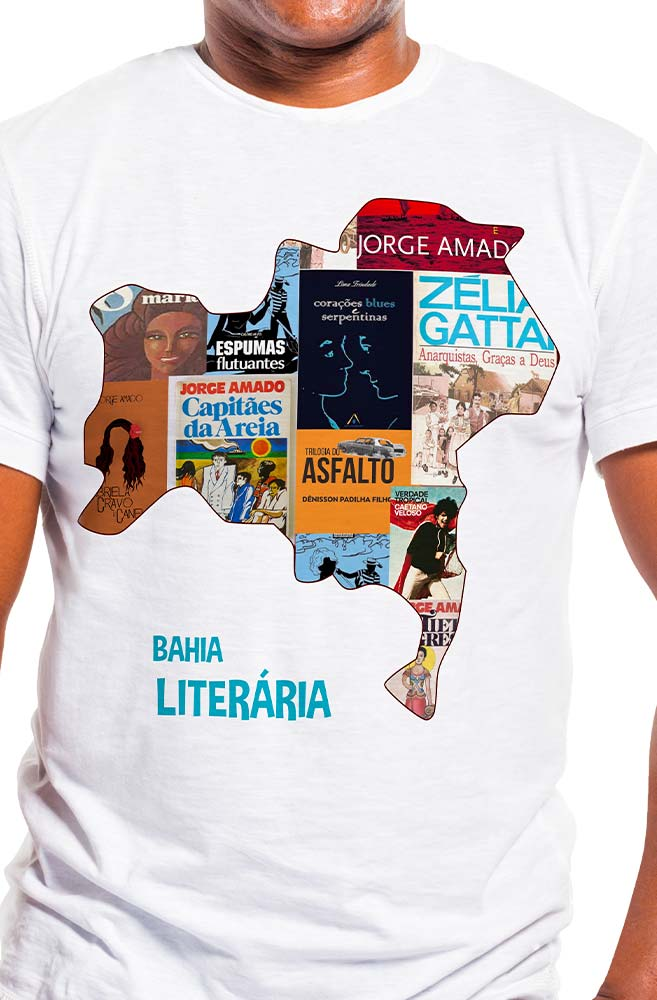 Camiseta Branca Bahia Literária