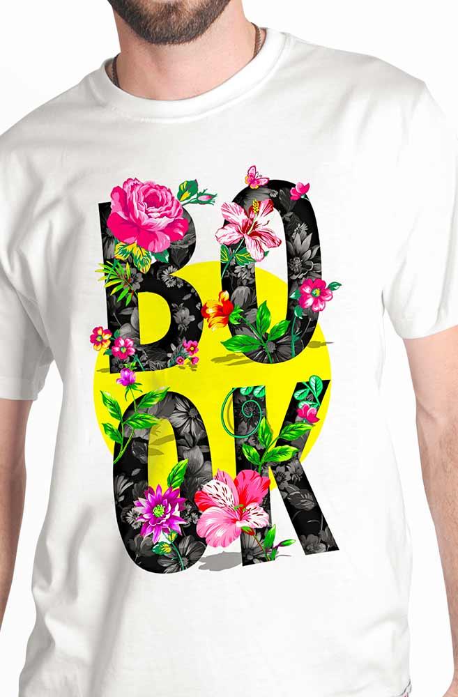 Camiseta Branca Book