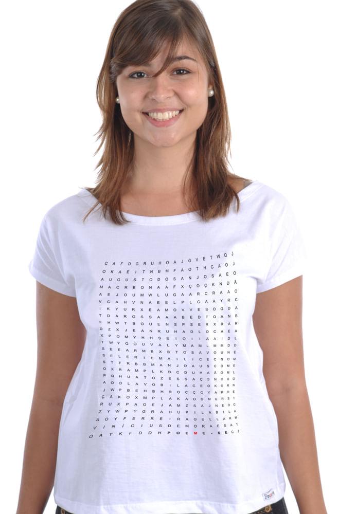 Camiseta Branca Caça Poetas