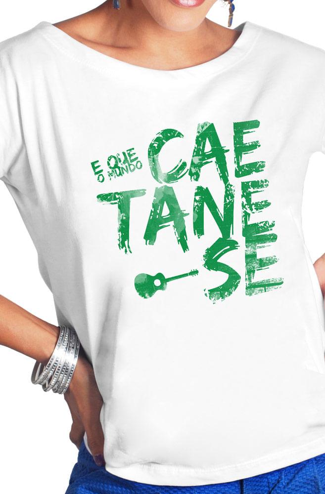Camiseta Branca Caetane-se